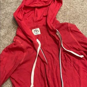 American Eagle Red Zip Up Hoodie 🧡